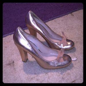 Gold heels flounce  brand